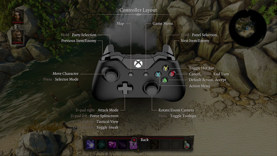 Xbox One Controls Divinity Original Sin